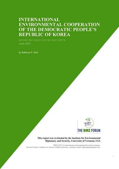 International Environmental Cooperation Democratic Peoples Republic of Korea report cover